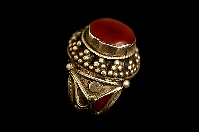 Wonderful Persian Carnelian Solid Silver Ring US Size:8