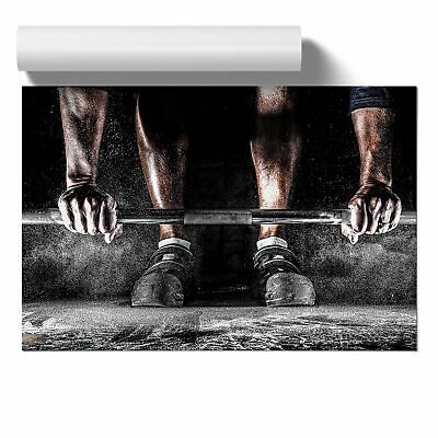 Poster Print Wall Art Body Building Fitness Weights 2 Landscape Sport Décor
