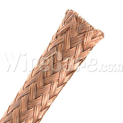 "MBC0.25CP - Bare Copper Tube Braid 1/4"" - 10 Ft Cuts"