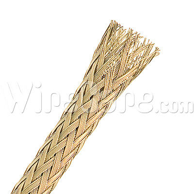 "MBB0.13BRS - Bare Brass Tube Braid 1/8"" - 10 Ft Cuts"