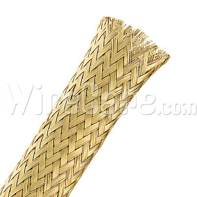 "MBB0.38BRS - Bare Brass Tube Braid 3/8"" - 10 Ft Cuts"