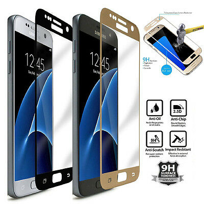 9H Full Cover Tempered Glass Screen Protector Protective Film Cover For Samsung