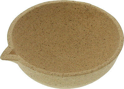 Alumina Ceramic Pot - Round, Max Temp. 2200 Deg. F, 3in.
