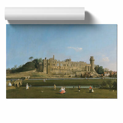 Poster Print Wall Art Giovanni Canaletto Warwick Castle Landscape Painting Décor