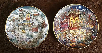 McDONALDS BY BILL BELL THE GOLDEN APPLE & GOLDEN COUNTRY LIMTED EDITION PLATES