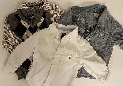 Lot 3 button shirt Vest Toddler Boys Gap, Gymboree, Children's 18-24 months 2T