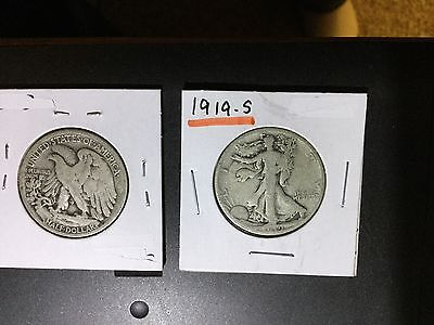 1919-S Silver walking liberty silver half dollar sold as each u get one coin