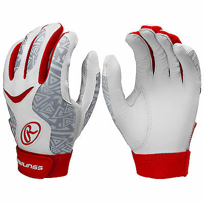 Rawlings Storm Women's Fastpitch Softball Batting Gloves - Scarlet - XL