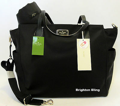 Kate Spade Kaylie Blake Avenue Baby Diaper Bag MultiFunction Tote Black RSP $349