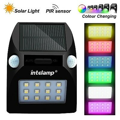 Solar Lights with Dusk to Dawn PIR Motion Sensors for Garden Driveway Patio F...