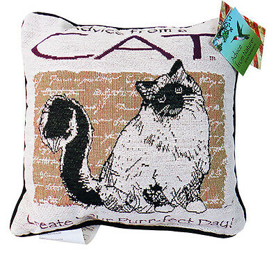 """Advice From A Cat"": Pillow"