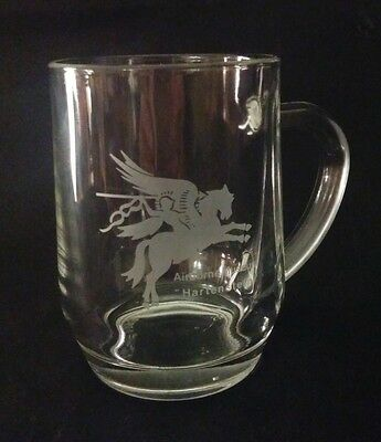 Airborne Museum Hartenstein Etched Glass Mug / Tankard 4 Inches tall