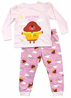 Cbeebies Bbc Official Hey Duggie Girls Pink Cotton Pyjamas Ages 1-6