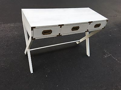 Chic Mid Century Hollywood Regency Campaign Style Desk