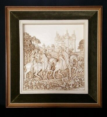 Vintage 1977 D.H Morton Canterbury Tales Wall Plaque In Frame 20 Inches
