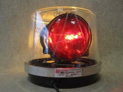 TARGET TECH Federal Signal AMBER RED Rotating Safety 12 volt Light # 442112