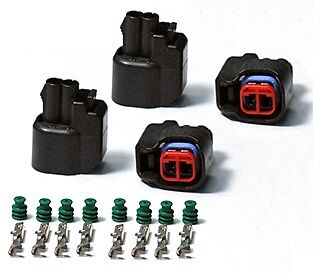 EV6 EV14 Fuel Injector Connector Plugs USCAR Clips Set of FOUR Brand New!