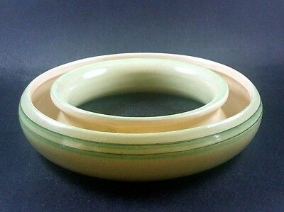 Vintage Grays Pottery Posy Ring Pale Green 6 Inch Diameter