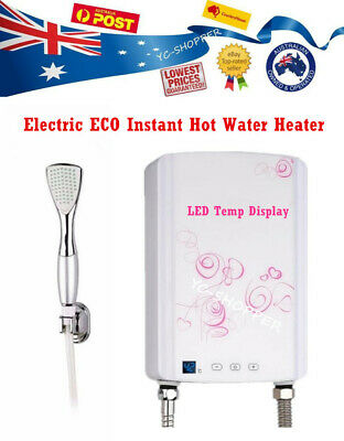 Electric Instant Hot Water Tankless Shower Heater - Caravan, Granny Flat