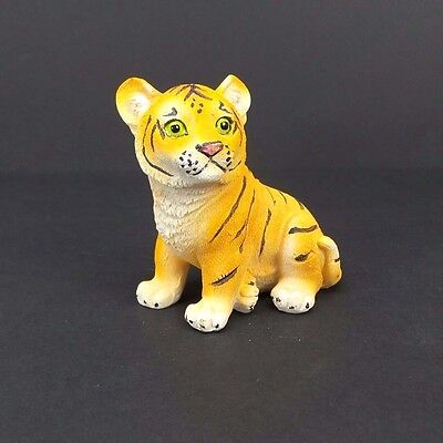"""Small Bengal Tiger Figurine 3"""" Tall Wild Cat Collectible Statue A"""