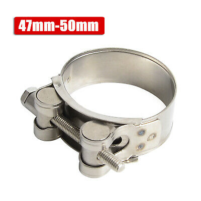 47-50mm Stainless Steel Exhaust Band Clamps For Catback Muffler Downpipe