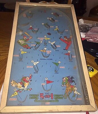 Pinball Poosh-m-up​ Big 5 Put N Take Baseball Twenty One Bagatelle Pennants