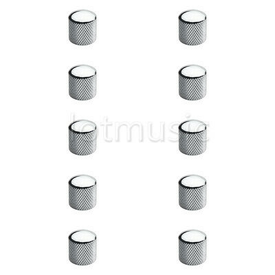 10 Pcs Electric Guitar Chrome Brass Dome Knob For Tele Telecaster Or Bass Parts