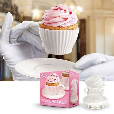 ** Bulk Buy ** Fred Teacupcakes: 8 Bake & Serve Cupcake Moulds