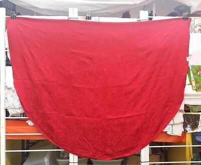 "Red Christmas Poinsettia Damask Oval 100"" X 65"" Tablecloth  Free Shipping"