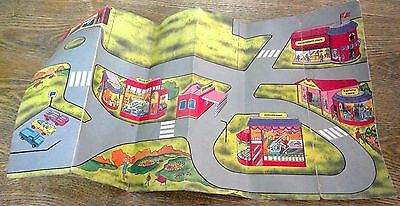 Town Mat MICRO MACHINES Map RARE Cardboard COLLECTABLE COLLECT (#42)