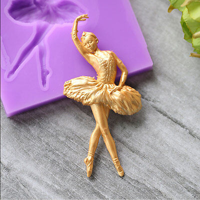 Vintage Silicone Dance Ballet Girl Shaped Cupcake Fondant Cake Mould Cake Molds
