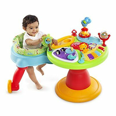 3 in 1 Baby Walker Around Play Table Toy Activity Music Animal Sound Toddler Fun