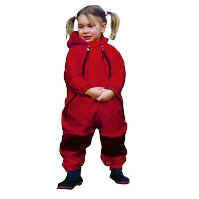 Tuffo Muddy Buddy Coveralls, Red 2T or 5T NEW