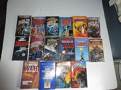 Lot of 16 Science Fiction by JERRY POURNELLE in Paperback