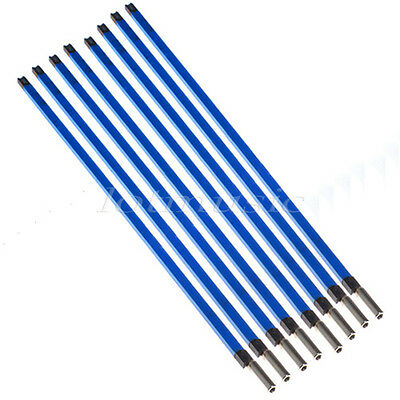 8pcs Electric Guitar Blue Double Two Way Course Truss Rod Rods Steel A3 9*580mm