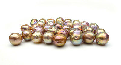 11-13MM Multicolor Real Freshwater Cultured Kasumi Loose Pearl Undrilled AAA 1pc