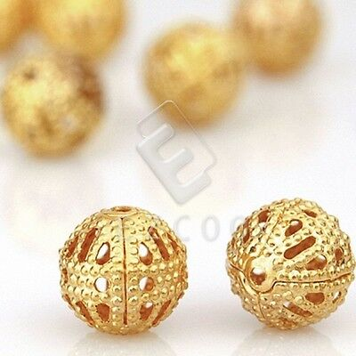 65/70/145/160pcs Metal Spacer Beads Round 6mm/8mm Gold Silver Wholesale DIY