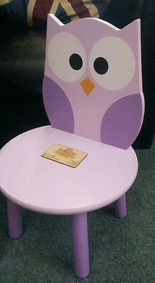 Personalised with Name childrens owl chair