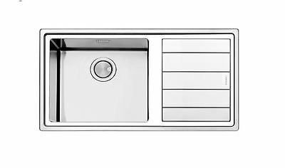 Apell Linear Plus Stainless Steel Brushed Sink 1.0 Bowl Inc Waste Kit