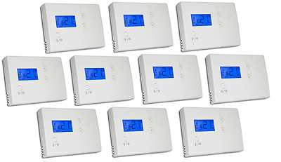 Central Heating Thermostat Boiler Programmable Stat x 10 Hard Wired Tower HWPRS