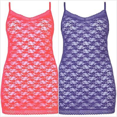 Marks & Spencer lovely Halanka Lace Strappy Vest Two Colours  10,12,14,16 18 20