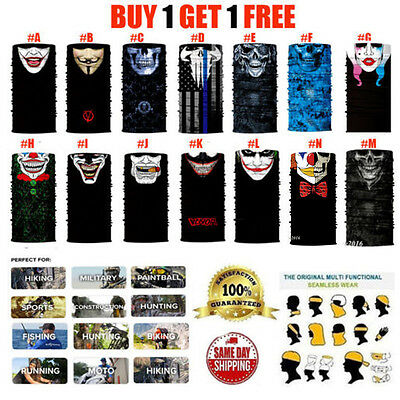 Buy1 get 1 Free Face Shield Sun Mask Balaclava Neck Gaiter Bandana Neckerchief