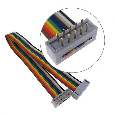 "10 Position IDC Ribbon Cable Assembly Rectangular Plug to Plug (0.1"",200mm, SS)"
