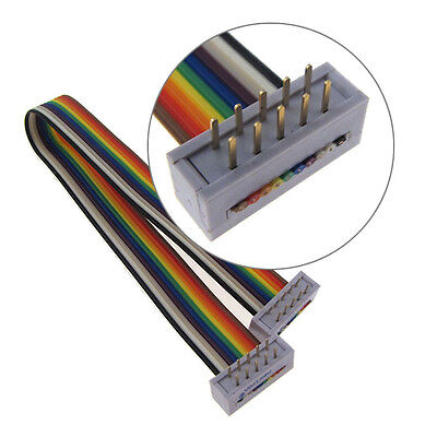 "10 Position IDC Ribbon Cable Assembly Rectangular Plug to Plug (0.1"",200mm, OS)"