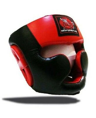 NEW BESTSPORTS Full Safety Head Guard-Leather Large for Training,MMA, Kickboxing