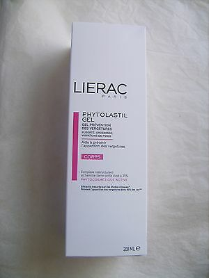 Gel prévention vergetures LIERAC Paris 200 ml - Tube neuf emballé