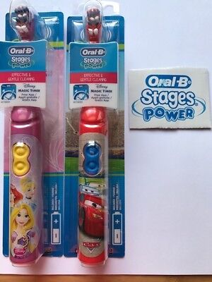 Oral B Stages Power Kids Disney Cars and Princess Electric Battery Toothbrush