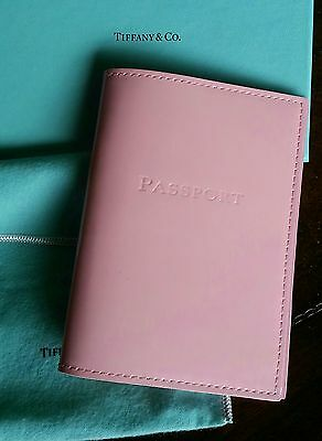 Authentic Tiffany & Co Pink Patent Leather Passport Holder  Nwot