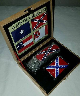 *NEW* Flags of the South Gift Set, Pocket Knife and Lighter in Box, Bonnie Blue