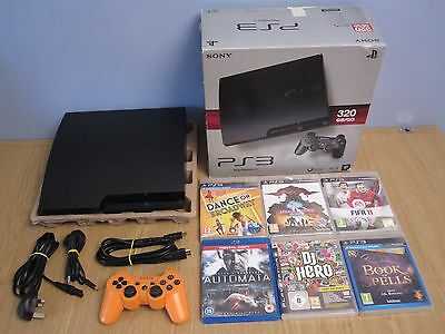 Sony Ps3 320Gb Console Boxed Cech-3004B Black + Games